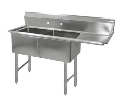 BK Resources: BKS6-2-24-14-24RS: 16 GA 2 COMP SINK 24 X 24 X 14D BOWLS