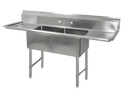 BK Resources: BKS6-2-1620-14-18TS: 16 GA 2 COMP SINK 16 X 20 X 14D BOWLS
