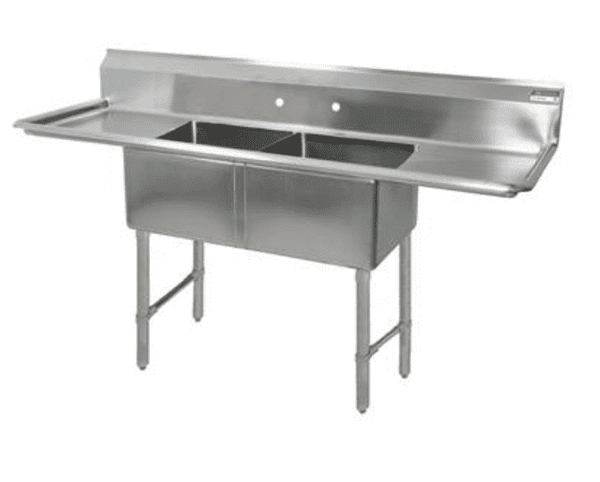 BK Resources: BKS6-2-24-14-24TS: 16 GA 2 COMP SINK 24 X 24 X 14D BOWLS