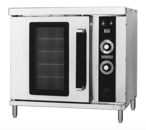Hobart HGC20 Natural Gas Single Deck Half Size Convection Oven - 25,000 BTU