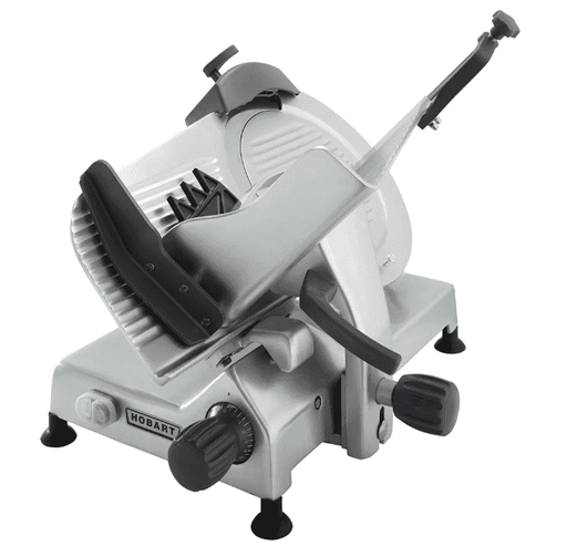 "Hobart EDGE13-11 Manual Medium Duty Slicer w/ 13"" Knife & Top Mount Sharpener, Aluminum Finish"