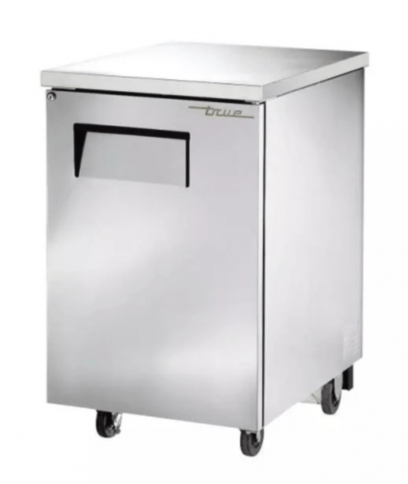 "True TBB-1-S-HC 23.5"" Bar Refrigerator - 1 Swinging Solid Door, Stainless, 115v"