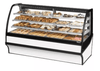 "True TDM-DC-77-GE/GE-S-W 77.25"" Full-Service Dry Bakery Case w/ Curved Glass - (4) Levels, 115v"
