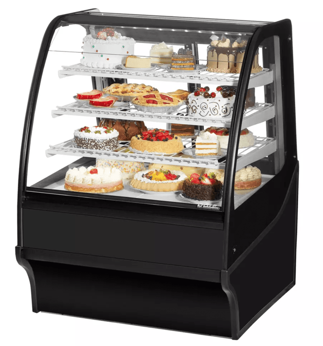 "True TDM-R-36-GE/GE-S-S 36.25"" Full-Service Bakery Case w/ Curved Glass - (4) Levels, 115v"