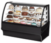 "True TDM-R-59-GE/GE-B-W 59.25"" Full-Service Bakery Case w/ Curved Glass - (4) Levels, 115v"