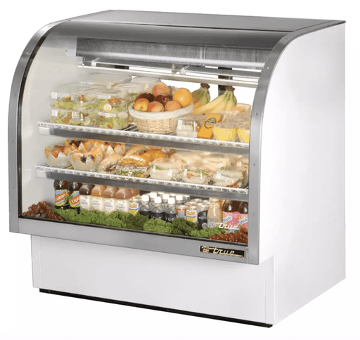 "True TCGG-48-LD 48"" Full Service Deli Case w/ Curved Glass - (3) Levels, 115v"