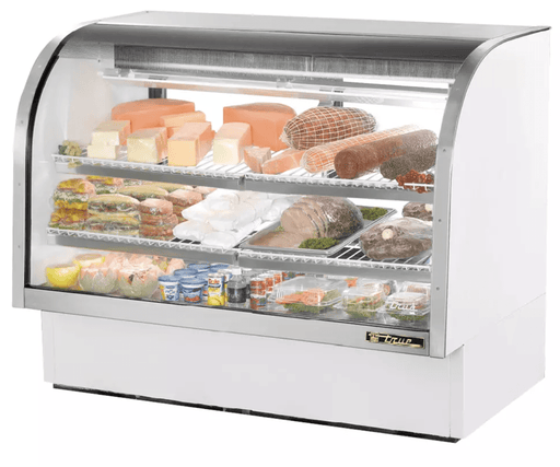 "True TCGG-60-LD 60"" Full Service Deli Case w/ Curved Glass - (3) Levels, 115v"