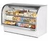 "True TCGG-72-LD 72"" Full Service Deli Case w/ Curved Glass - (3) Levels, 115v"