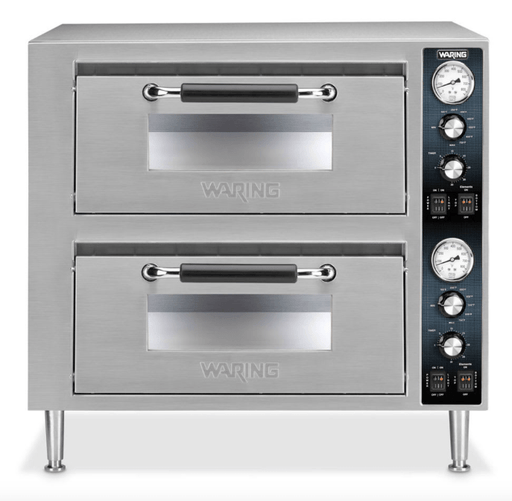 Waring WPO750 Countertop Pizza Oven - Double Deck, 240v/1ph