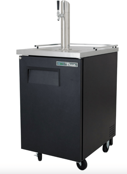 "True TDD-1-HC 24"" Draft Beer System w/ (1) Keg Capacity - (1) Column, Black, 115v"