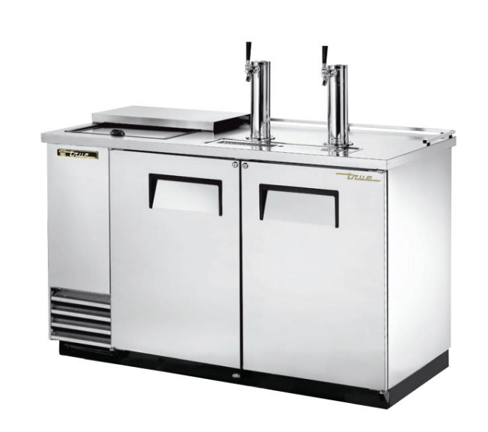 "True TDD-2CT-S-HC 59"" Draft Beer System w/ (2) Keg Capacity - (2) Columns, Stainless, 115v"