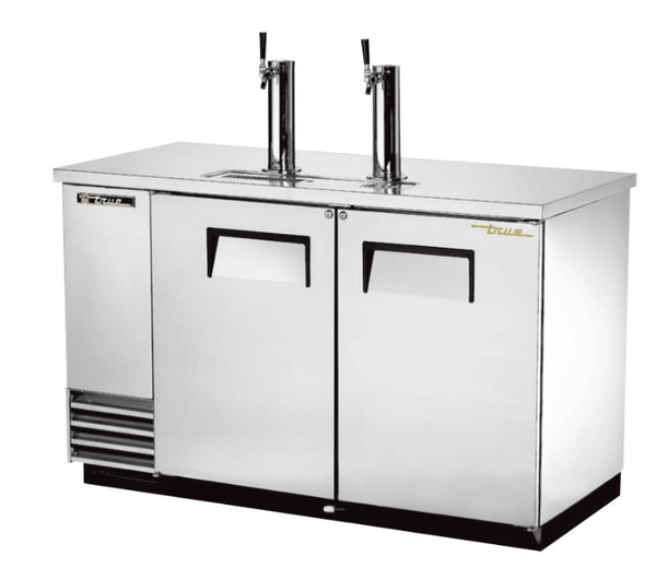 "True TDD-2-S-HC 59"" Draft Beer System w/ (2) Keg Capacity - (2) Columns, Stainless, 115v"