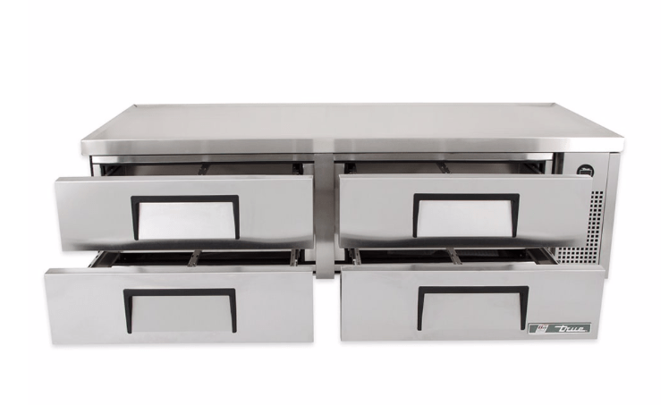 "True TRCB-72 72"" Chef Base w/ (4) Drawers - 115v"