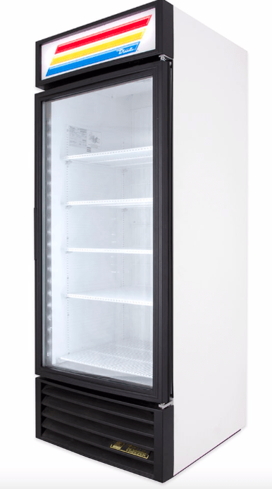 "True GDM-26F-HC~TSL01 30"" One Section Display Freezer w/ Swing Door - Bottom Mount Compressor, White, 115v"