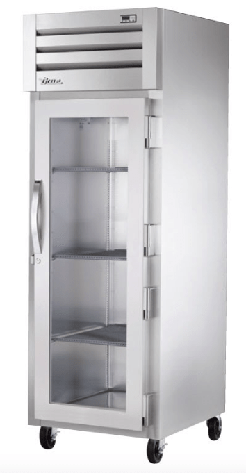 "True STG1F-1G-HC 27"" Single Section Reach In Freezer, (1) Right Hinge Glass Door, 115v"