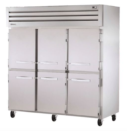 "True STG3F-6HS 78"" Three Section Reach-In Freezer, (6) Solid Door, 208 230v/1ph"