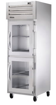 "True STR1F-2HG-HC 27"" Single Section Reach In Freezer, (2) Glass Door, 115v"
