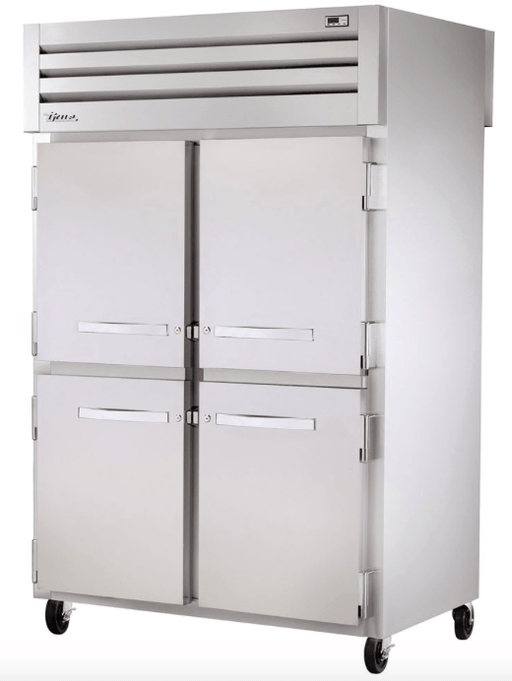 "True STR2F-4HS 52"" Two Section Reach-In Freezer, (4) Solid Doors, 115v"