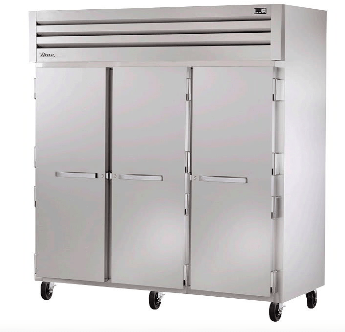 "True STG3F-3S 78"" Three Section Reach-In Freezer, (3) Solid Doors, 208v/1ph"