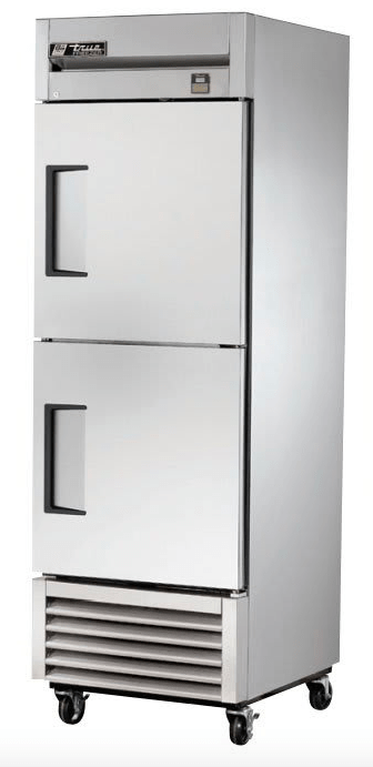 "True TS-23F-2-HC 27"" Single Section Reach-In Freezer, (2) Right Hinge Solid Door, 115v"