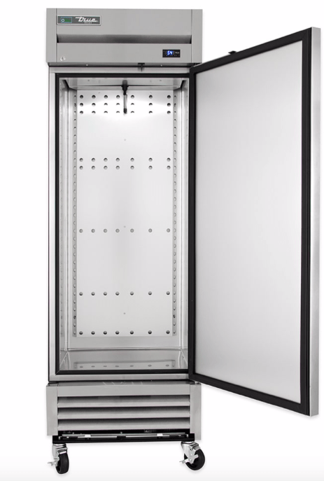 "True T-19FZ-HC 27"" Single Section Reach-In Freezer w/ (1) Right Hinge Solid Door, 115v"