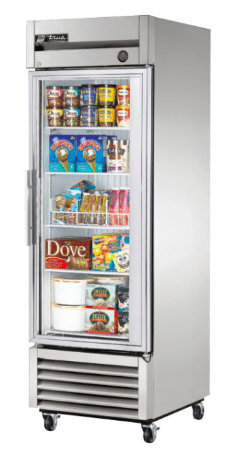 "True T-23FG-HC~FGD01 27"" Single Section Reach-In Freezer, (1) Right Hinge Glass Door, 115v"