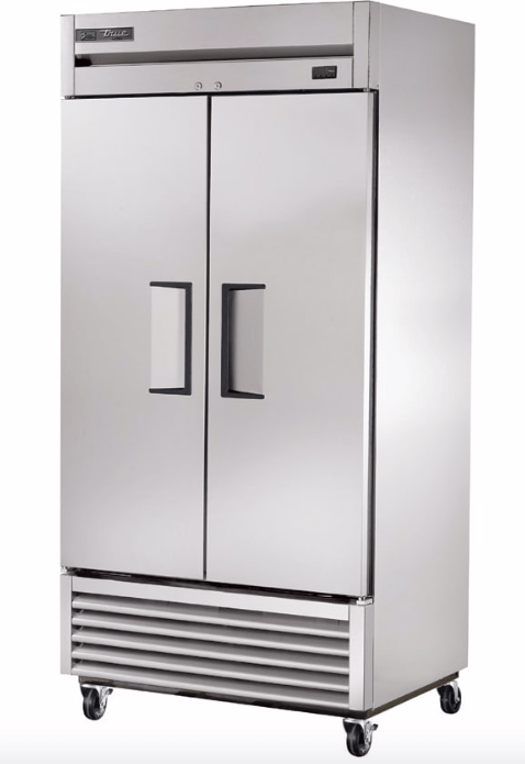 "True T-35F-HC 40"" Two Section Reach-In Freezer, (2) Solid Doors, 115v"