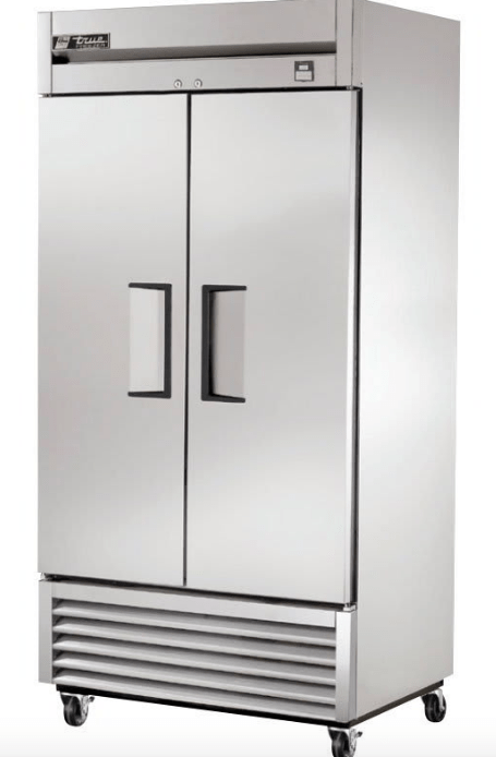 "True TS-35F-HC 39"" Two Section Reach In Freezer, (2) Solid Doors, 115v"