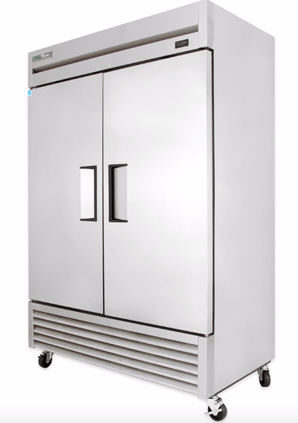 "True TS-49F-HC 54"" Two Section Reach-In Freezer, (2) Solid Doors, 115v"