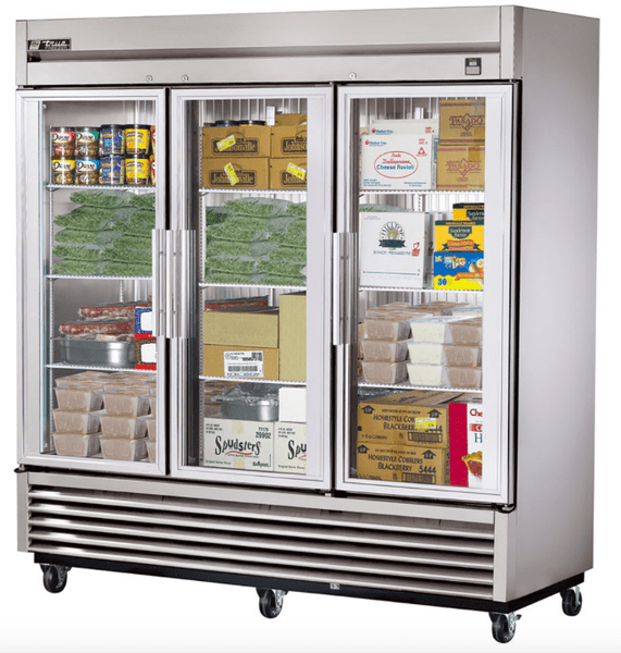 "True TS-72FG-HC~FGD01 78"" Three Section Reach-In Freezer, (3) Glass Door, 115/208 230v/1ph"