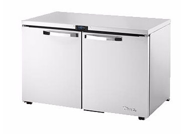 "True TUC-48F-LP-HC~SPEC3 48"" W Undercounter Freezer w/ (2) Sections & (2) Doors, 115v"