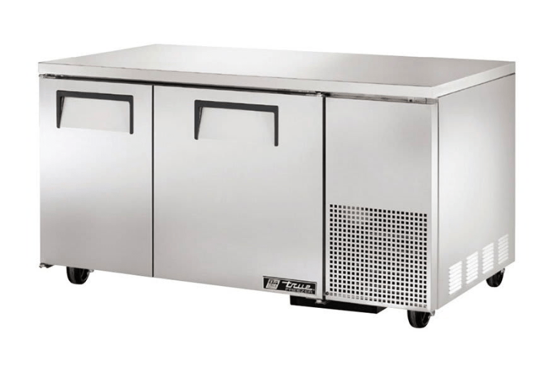 "True TUC-60-32F 60"" W Undercounter Freezer w/ (2) Sections & (2) Doors, 115v"