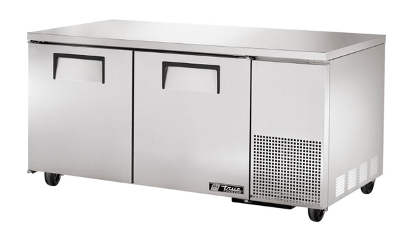 "True TUC-67F~SPEC3 67"" W Undercounter Freezer w/ (2) Sections & (2) Doors, 115v"
