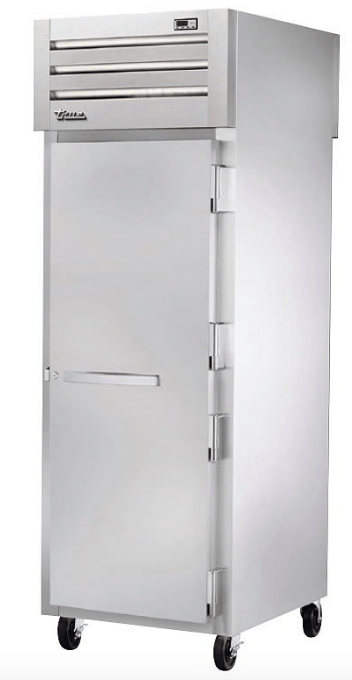 True STR1HPT-1S-1S Full Height Insulated Mobile Heated Cabinet w/ (3) Pan Capacity, 208-230v/1ph