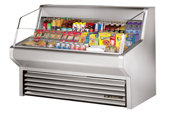 "True THAC-60-S 60"" Horizontal Open Air Cooler w/ (3) Levels, 115v"