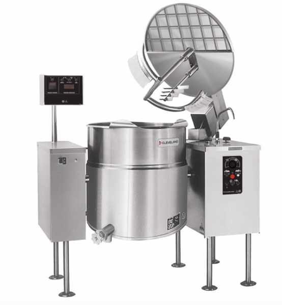 Cleveland MKEL100T 100 gal Steam Kettle - Power Tilt, 2/3 Jacket, 208v/3ph
