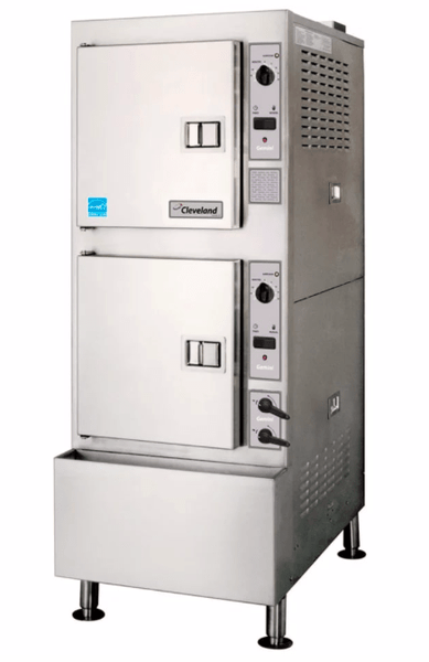 Cleveland 24CGA10.2 (10) Pan Convection Steamer - Cabinet, Descaling Port, Natural Gas