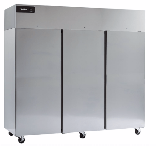 "Delfield GBR3P-S 83"" Three Section Reach In Refrigerator, (3) Left/Right Hinge Solid Doors, 115v"