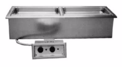 "Delfield N8746ND Wet Or Dry Narrow Drop-In Hot Food Well for (2) 12 x 20"" Pans, 120v"
