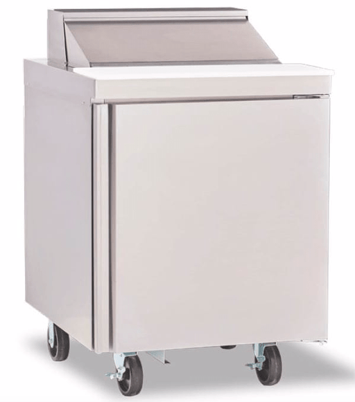 "Delfield 4427NP-6 27"" Sandwich/Salad Prep Table w/ Refrigerated Base, 115v"