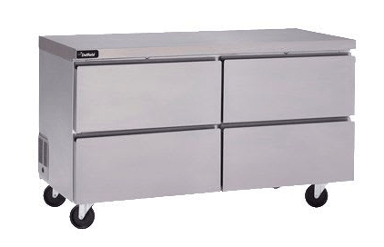 "Delfield GUR32P-D 32"" Worktop Refrigerator w/ (1) Section & (2) Drawers, 115v"