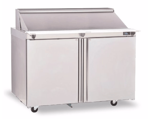 "Delfield 4448NP-18M 48"" Sandwich/Salad Prep Table w/ Refrigerated Base, 115v"