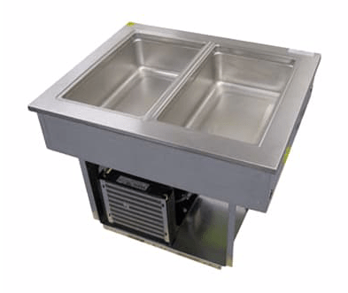 "Delfield 8145-EFP 45"" Drop-In Refrigerator w/ (3) Pan Capacity - Cold Wall Cooled, 115v"