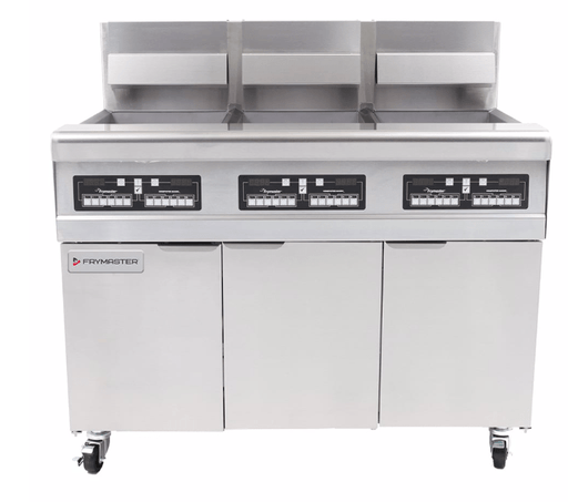 Frymaster MJ350 Gas Fryer - (3) 50 lb Vats, Natural Gas