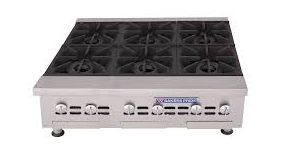 "Bakers Pride BPHHP-636I 36"" Gas Hotplate w/ (6) Burners & Manual Controls, Natural Gas"