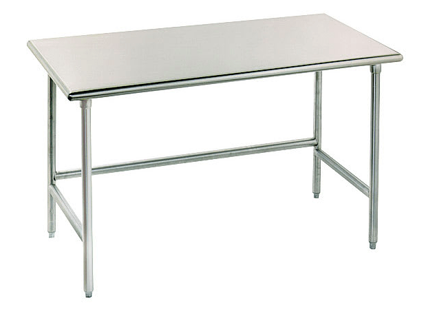 "Advance Tabco TSS-306 72"" 14 ga Work Table w/ Open Base & 304 Series Stainless Flat Top"