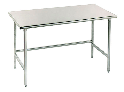 "Advance Tabco TSS-305 60"" 14 ga Work Table w/ Open Base & 304 Series Stainless Flat Top"