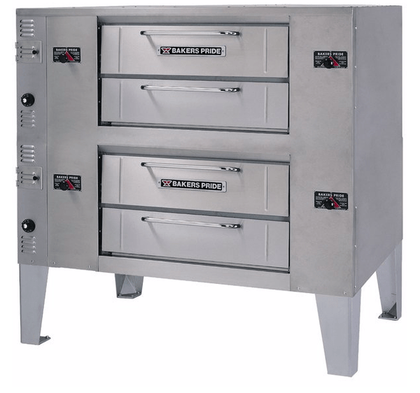Bakers Pride DS-990 Super Deck Natural Gas Double Deck Gas Pizza Oven - 140,000 BTU