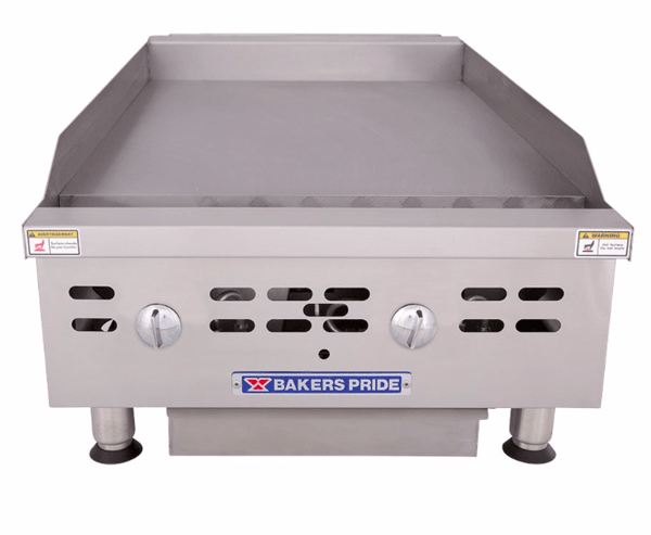 "Bakers Pride BPHMG-2424I 24"" Gas Griddle w/ Manual Controls - 1"" Steel Plate, Natural Gas"