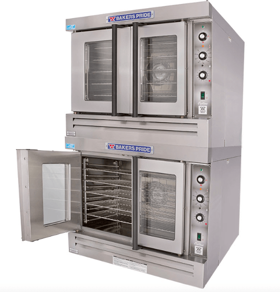 Bakers Pride BCO-G2 Cyclone Doube Full Size Natural Gas Convection Oven - 60,000 BTU